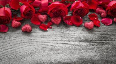 Fotomural Rosas en tabla de madera