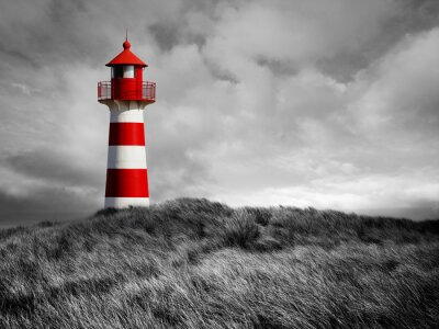 Fotomural Rot-Weißer Leuchtturm