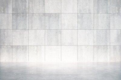 Fotomural Sala vacía con piso y pared de hormigón