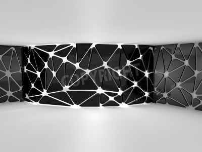 Fotomural Sala vacía de procesamiento 3D