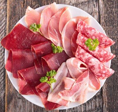 Fotomural salami, bacon