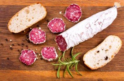 Fotomural Salami francés con romero y pan