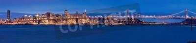Fotomural San Francisco panorama por la noche