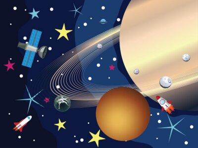 Fotomural Saturno en el espacio