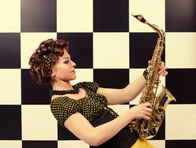 Fotomural Saxofonista expresivo