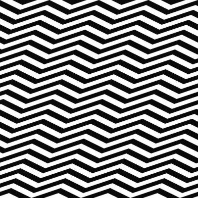 Fotomural Seamless black white chevron pattern