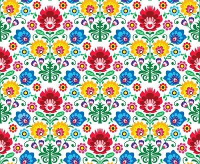 Fotomural Seamless patrón floral polaco - el origen étnico
