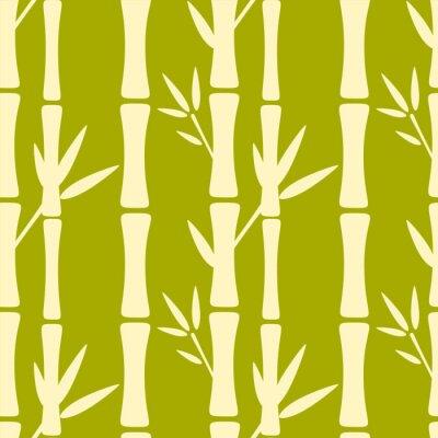 Fotomural Seamless, patrón, siluetas, bambú, árboles
