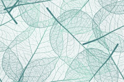 Fotomural Seamless pattern with leaves veins. Vector illustration.