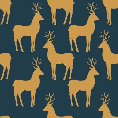 Fotomural Seamless vector pattern with deer
