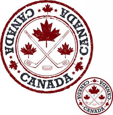 Fotomural Sello canadiense del hockey.