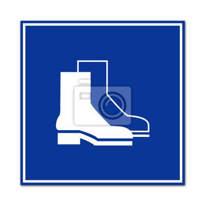 Señal calzado de trabajo fotomural • fotomurales industrial 6bdf976b7fddd