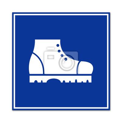 Señal de la uso de calzado de seguridad fotomural • fotomurales ... 55e9252412f0a