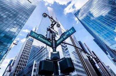 Fotomural Señales de dirección en Nueva York