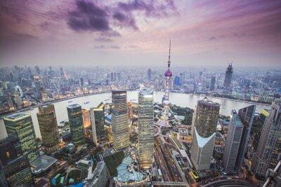 Fotomural Shanghai, China Vista aérea