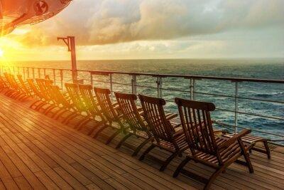 Fotomural Sillas de cubierta del barco de cruceros