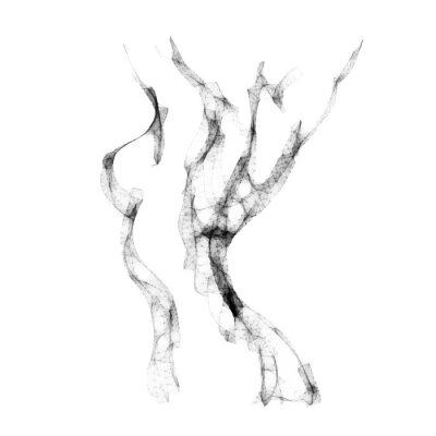 Fotomural Silueta de mujer desnuda hermosa ilustración vectorial