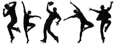 Fotomural Siluetas de bailarines en concepto de baile