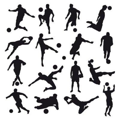 Fotomural Siluetas de fútbol