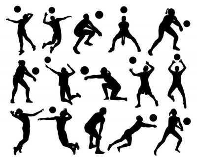 Fotomural Siluetas de voleibol