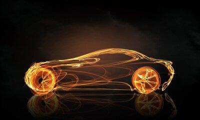 Fotomural Símbolo de la luz del coche