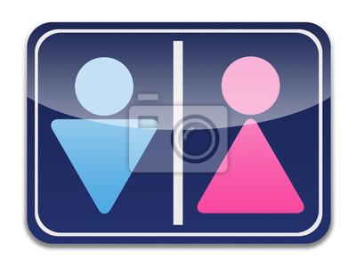 Símbolo Wc Silueta De Un Hombre Y Una Mujer Fotomural