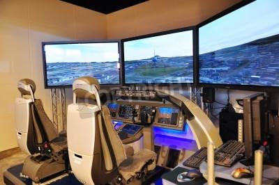 Fotomural Simulador de vuelo de Boeing en Singapur Airshow 03 de febrero 2010 en Singapur