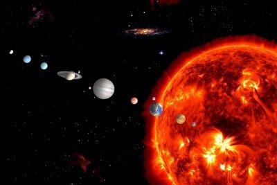 Fotomural Sistema de Sun, los elementos son proporcionados por la NASA