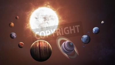 Fotomural Sistema solar y objetos espaciales. Elementos de esta imagen proporcionados por la NASA