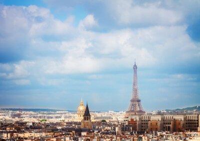 Fotomural Skyline de París con torre eiffel