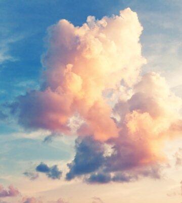 Fotomural Soleado cielo de fondo en estilo vintage retro