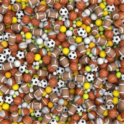 Fotomural Sport balls on the floor