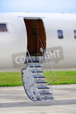 Fotomural Stairs on a luxury private jet aircraft - Bombardier Global Express
