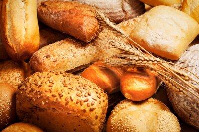 Fotomural Surtido de pan horneado con trigo