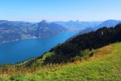 Fotomural  Switzerland, mountain and lake