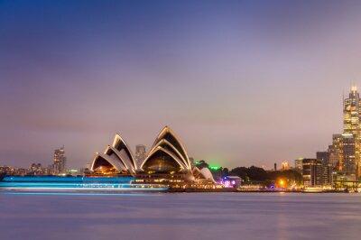Fotomural SYDNEY - 12 DE OCTUBRE DE 2015: El teatro de la ópera icónica de Sydney es un mu