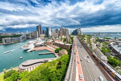 Fotomural SYDNEY - 7 DE NOVIEMBRE DE 2015: Vista panorámica de la ciudad. Sydney atrae