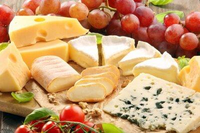 Fotomural Tabla de quesos - diversos tipos de composición del queso