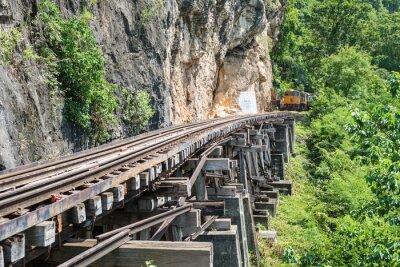 Fotomural Tailandia, tren, río, Kwai, Puente, Kanchanaburi, Tailandia