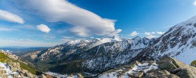 Fotomural Tatra montañas bruja hermosas nubes
