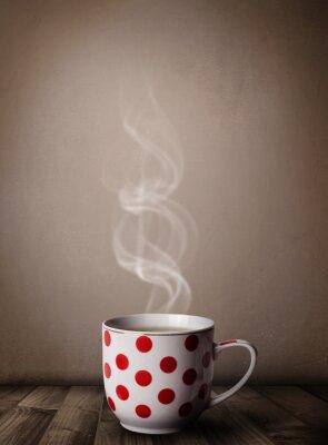 Fotomural Taza de café con vapor abstracto blanco