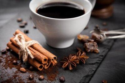 Fotomural Taza de café en el tablero de piedra
