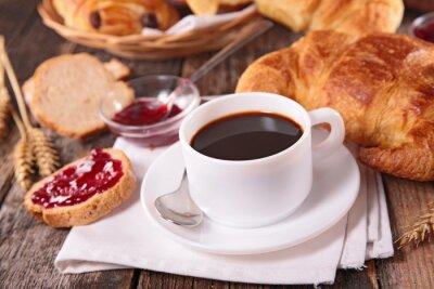 Fotomural taza de café y croissant