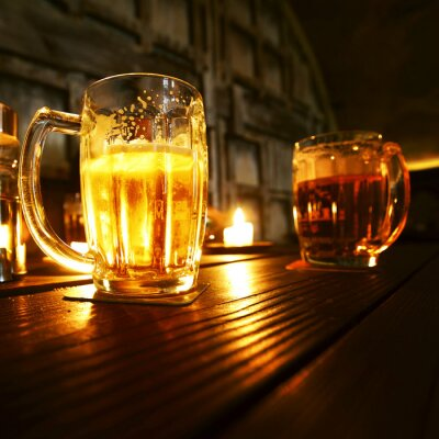 Fotomural Tazas de cerveza