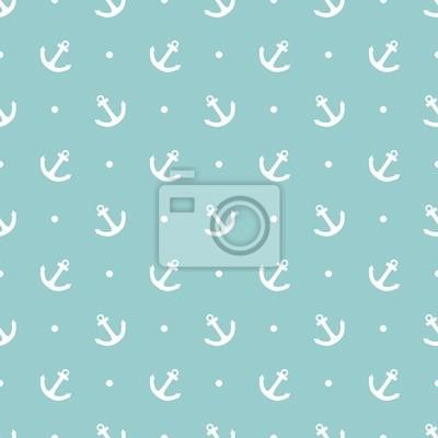 c896d32383f Fotomural Teja marinero puntos vector patrón polca en fondo en colores  pastel