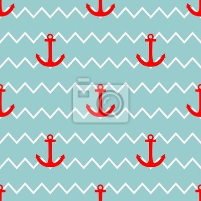 8466e0c0419 Teja marinero vector patrón fondo pr verano náutica fotomural ...