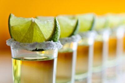 Fotomural tequila, limón y sal