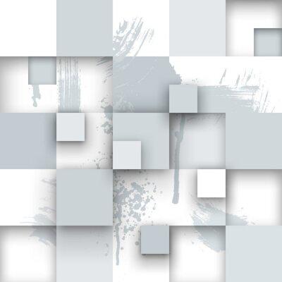Fotomural Textura abstracto con plazas y salpicaduras de pintura.