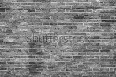 Fotomural Textura de pared de ladrillo gris.