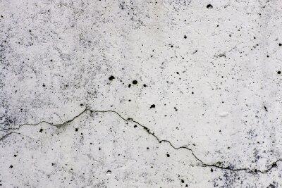 Fotomural Textura di sfondo de un muro, en cemento, con crepa che scorre orizzontalmente